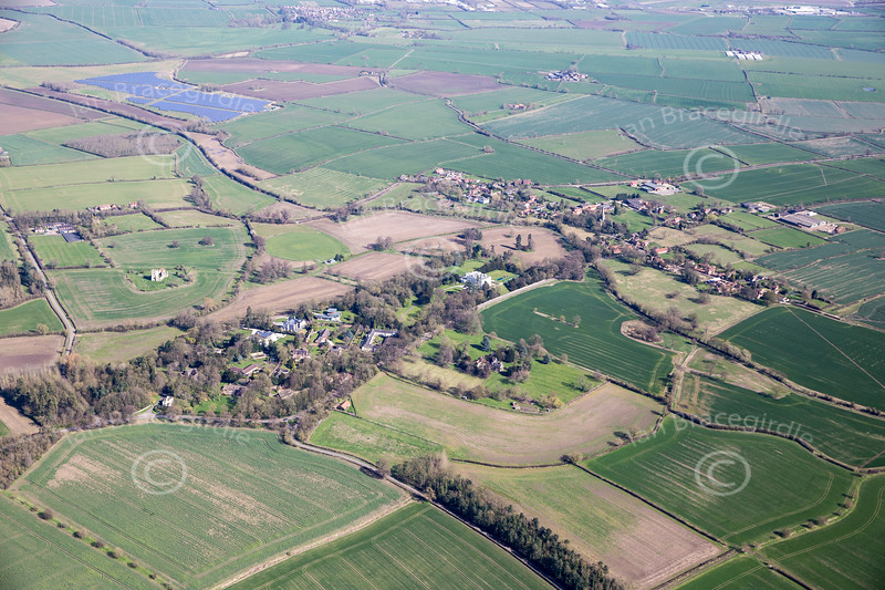 Aerial photo of Colston Bassett.