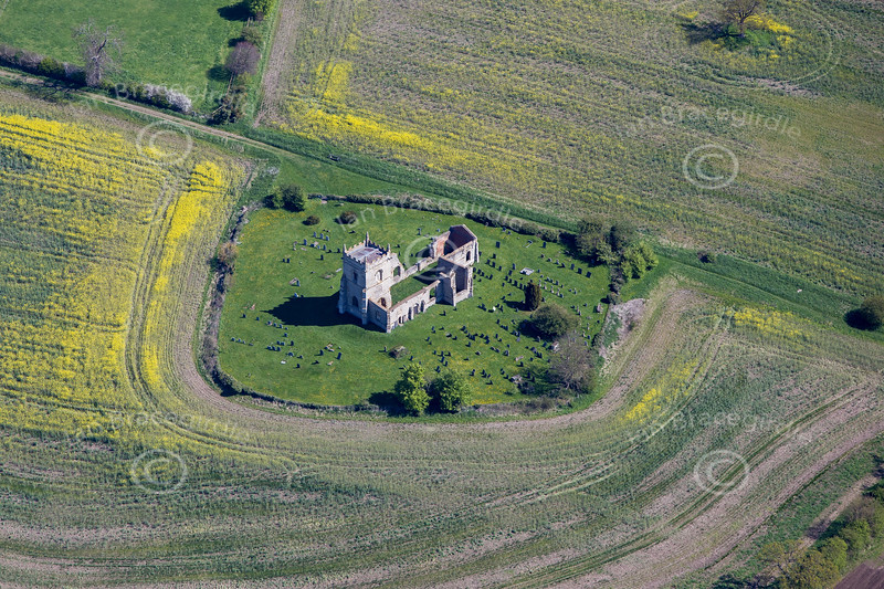 St Mary's Church from the air.