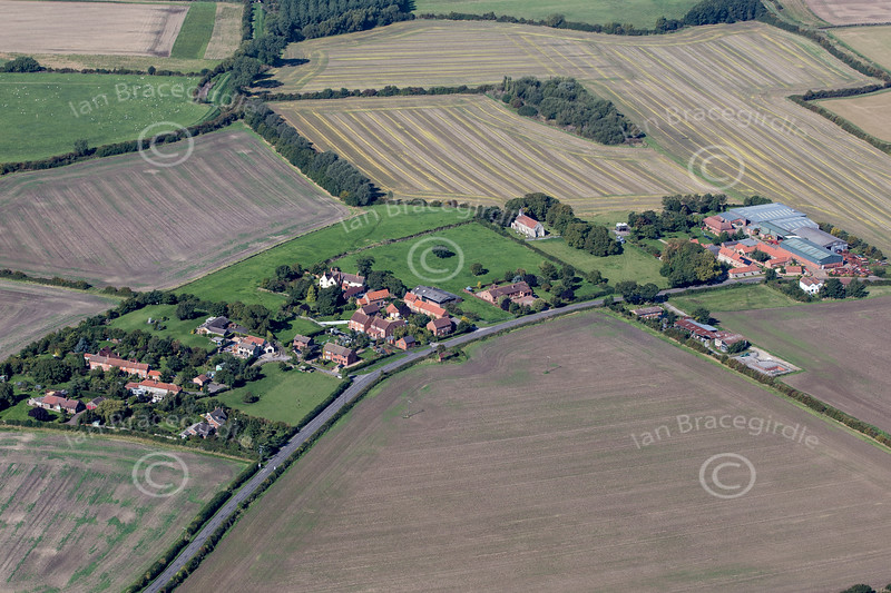Aerial photo of Cotham near Newark in Nottinghamshire.