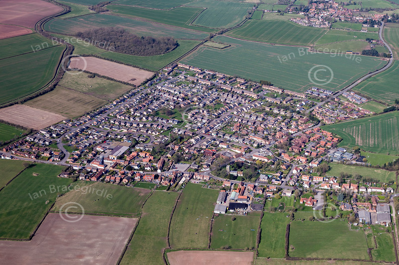 Aerial photo of Cropwell Bishop.