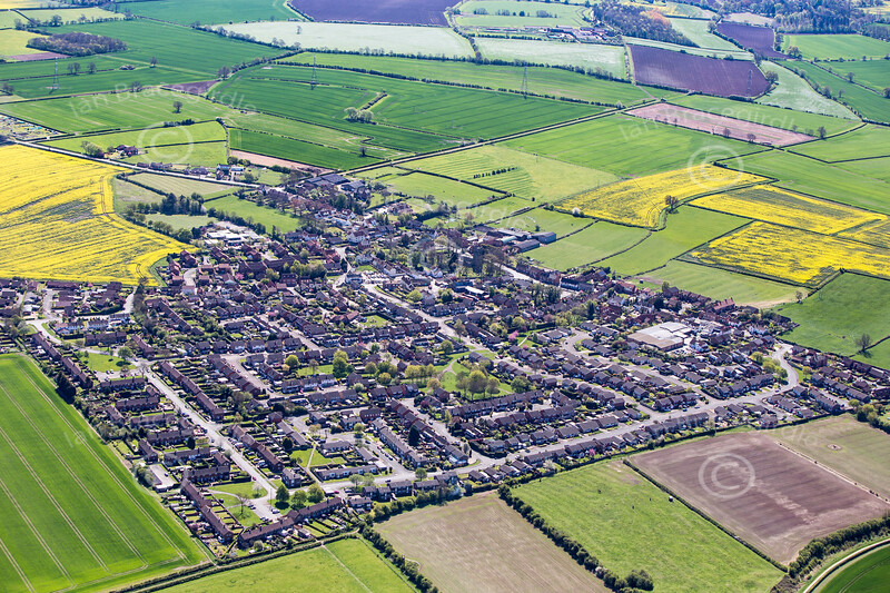 Cropwell Bishop from the air.