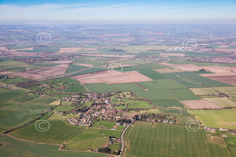 Aerial photo of Cropwell Butler.