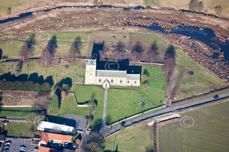 Aerial photo of Cuckney.
