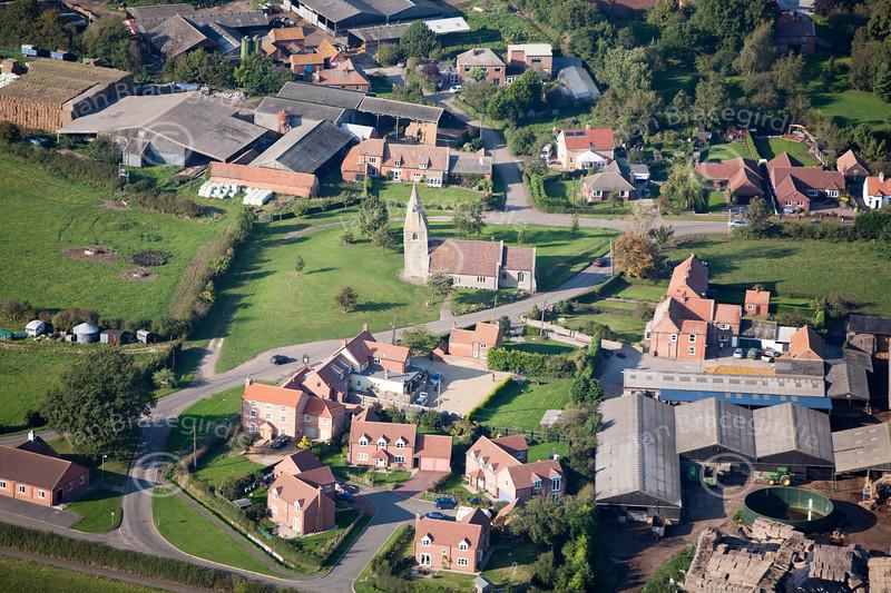Aerial photo of St James's Church, Dry Doddington.