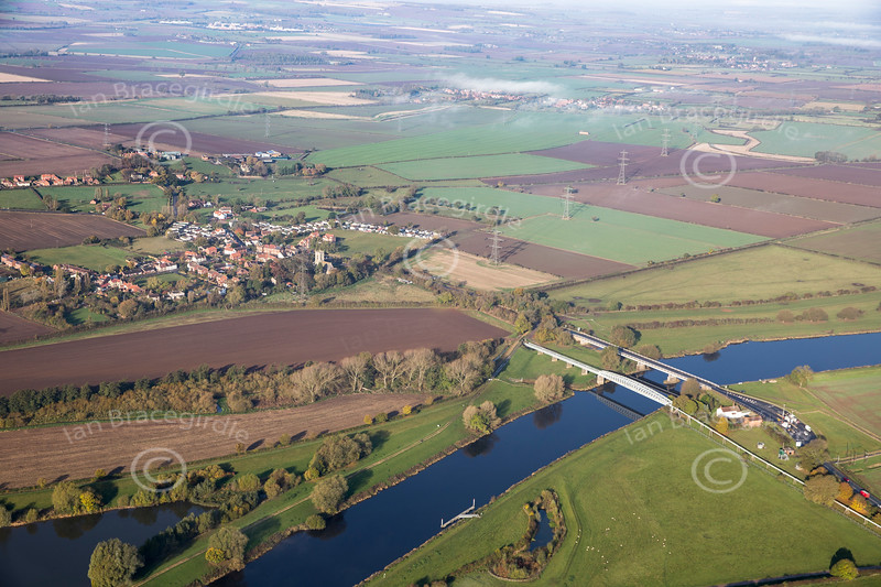 Aerial photo of Dunham on Trent.