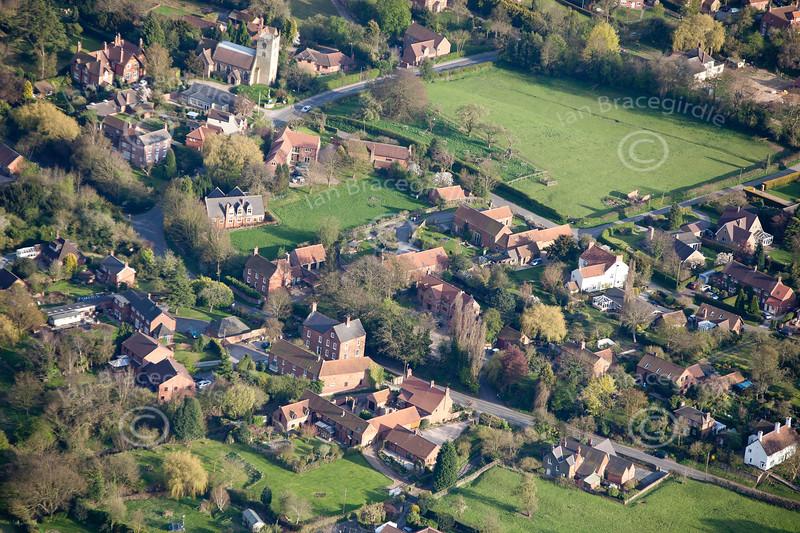 Aerial photo of Eakring.