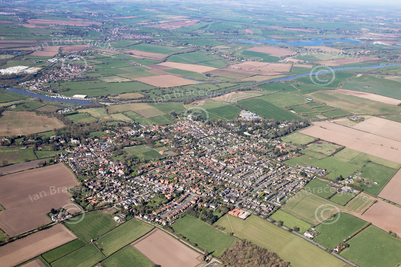 Aerial photo of East Bridgford.