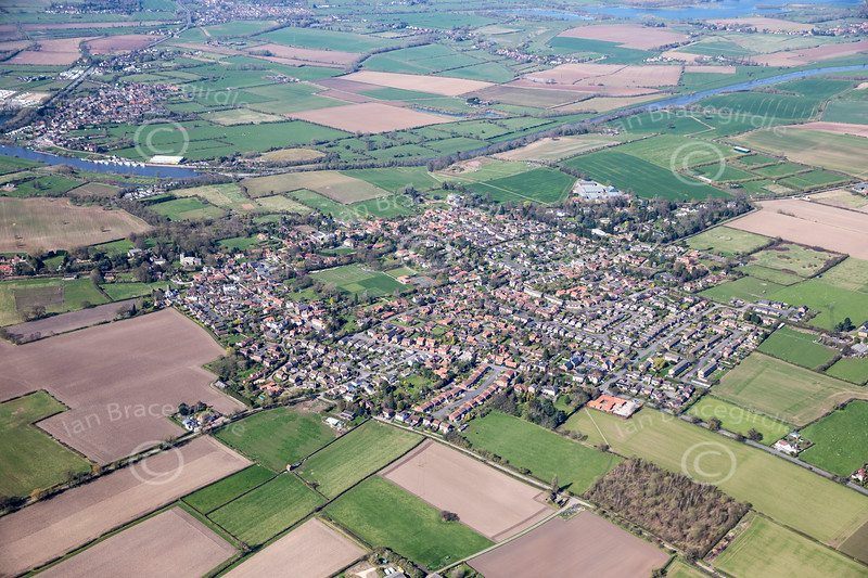 Aerial photo of East Bridgford.