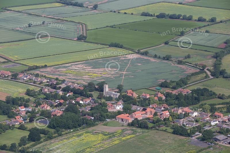 Aerial photo of East Drayton.