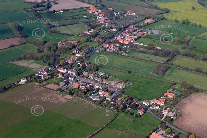 Aerial photo of Edingley.