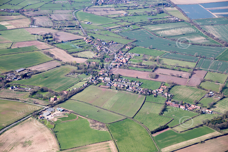 Aerial photo of Edingley.