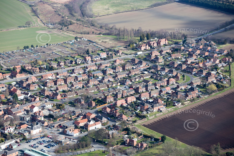 Edwinstowe from the air.