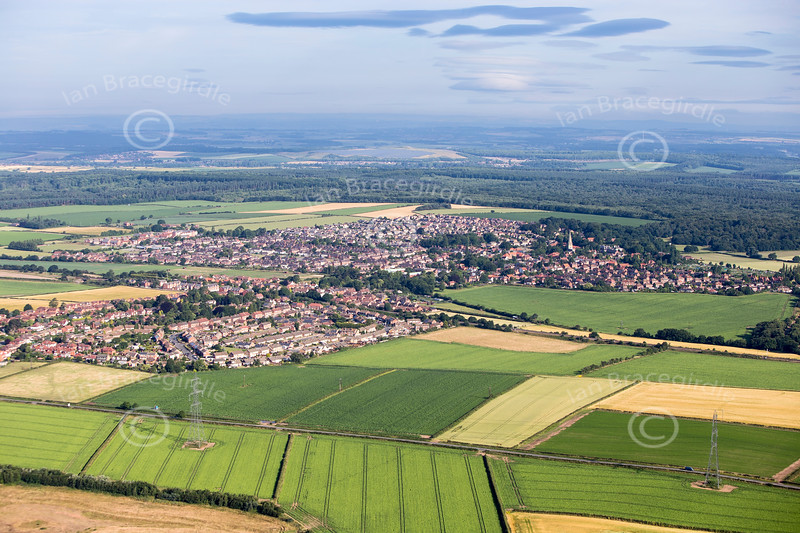 Aerial photo of Edwinstowe-51