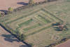 Aerial photo of medieval fish ponds in Egmanton.