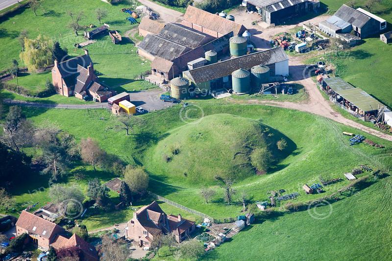Aerial photo of Egmanton Motte and Bailey.