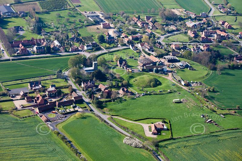 Aerial photo of Egmanton.