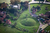 Aerial photo of Egmanton Motte and Bailey.