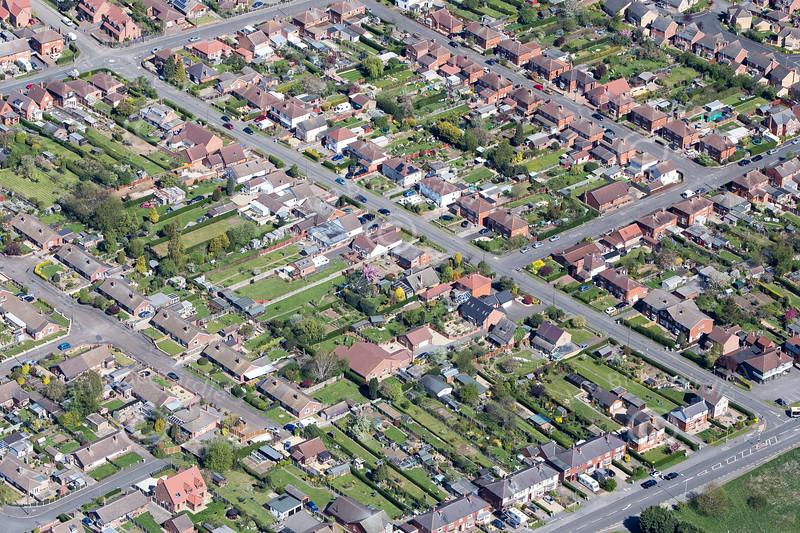 Aerial photo of Farndon.