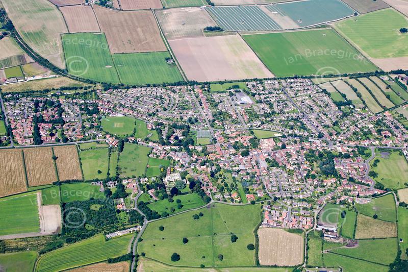 Aerial photo of Farnsfield.