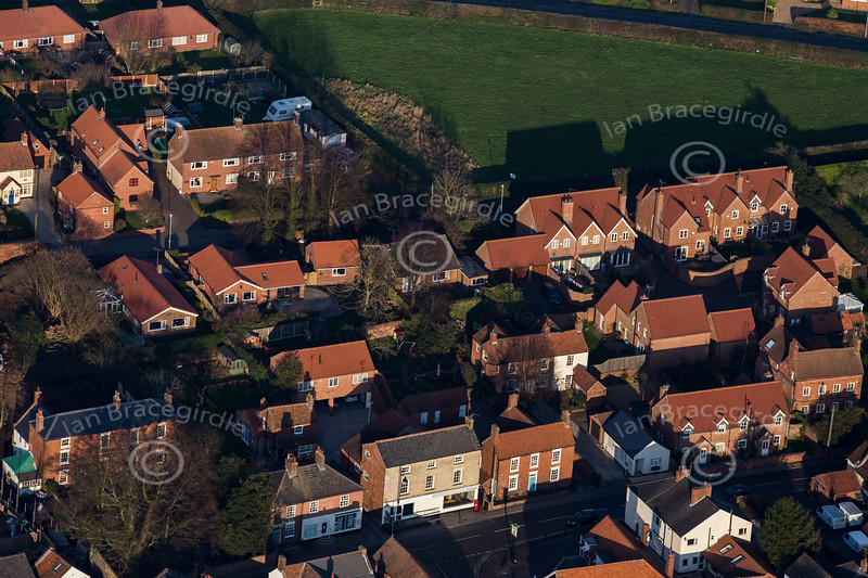 Aerial photo of Farnsfield.