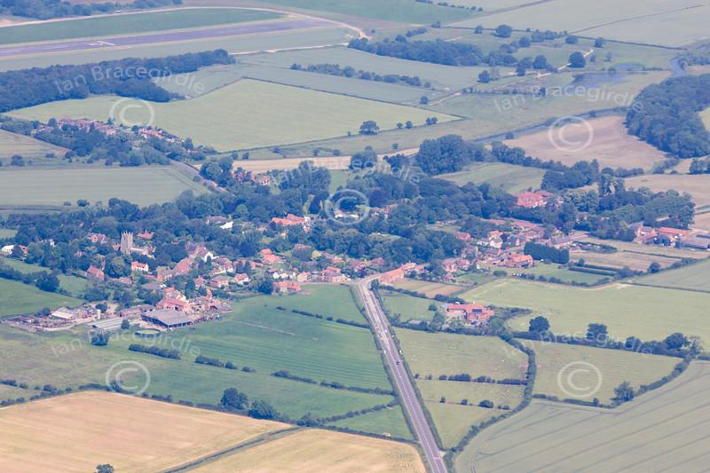 Aerial photo of Gamston.