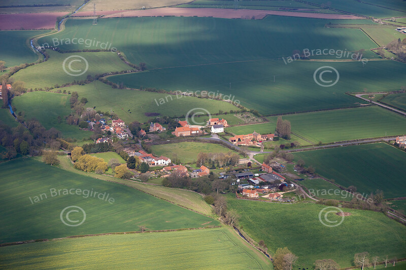 Aerial photo of Grassthorpe.