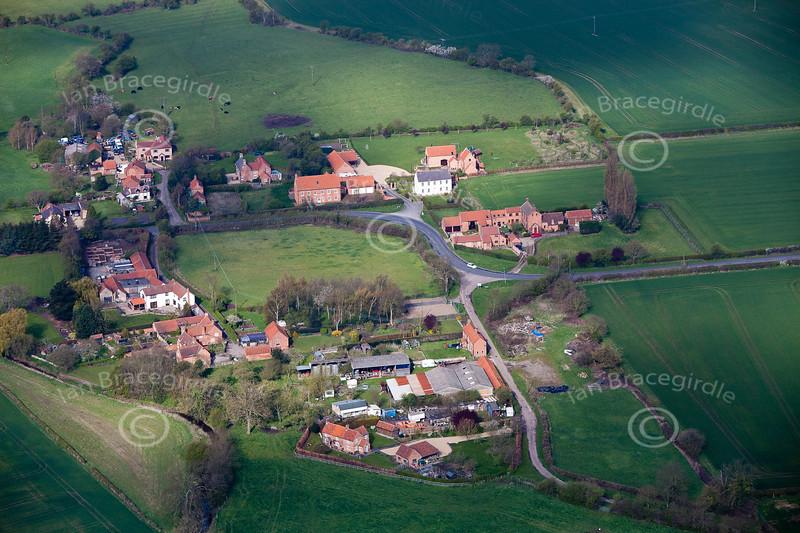 Aerial photo of Grassthorpe.