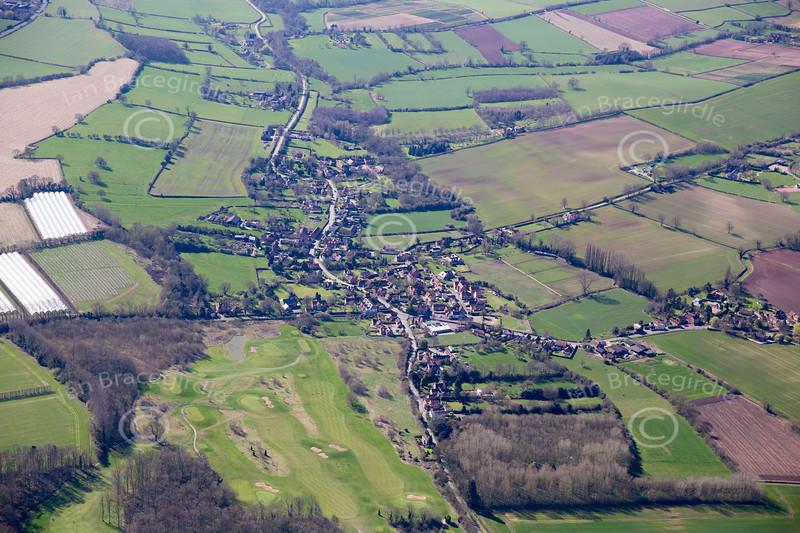 Aerial photo of Halam.