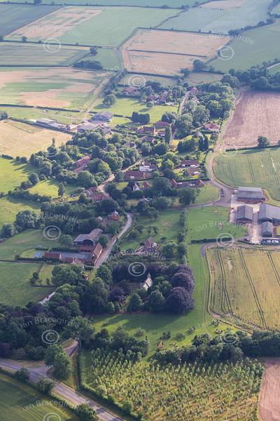 Aerial photo of Halloughton.