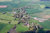 An aerial photo of Halloughton near Southwell in Nottinghamshire.