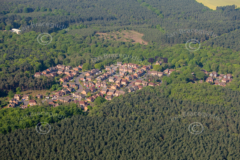 Aerial Photo of Harlow Wood.