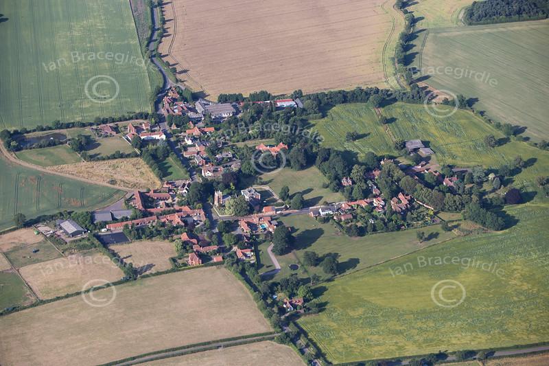 Aerial photo of Hawksworth.