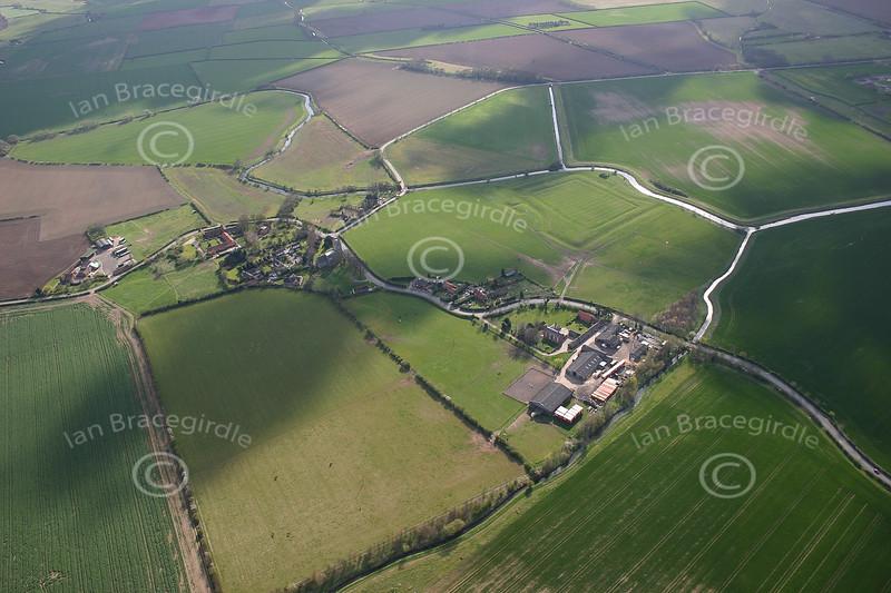 An aerial photo of Hawton.