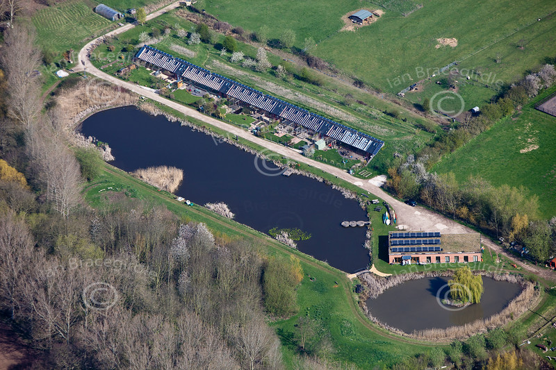 Aerial photo of Hockerton.