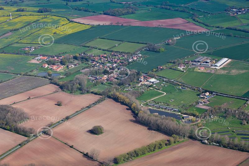 Aerial photo of Hockerton.