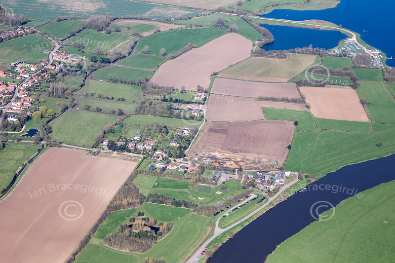 Aerial photo of Hoveringham.