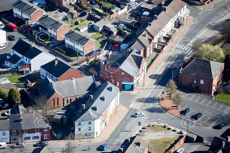 Aerial photo of Huthwaite.