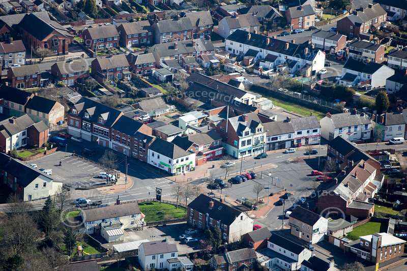 Aerial photo of Huthwaite.