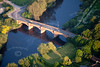 Aerial photo of Kelham Bridge.