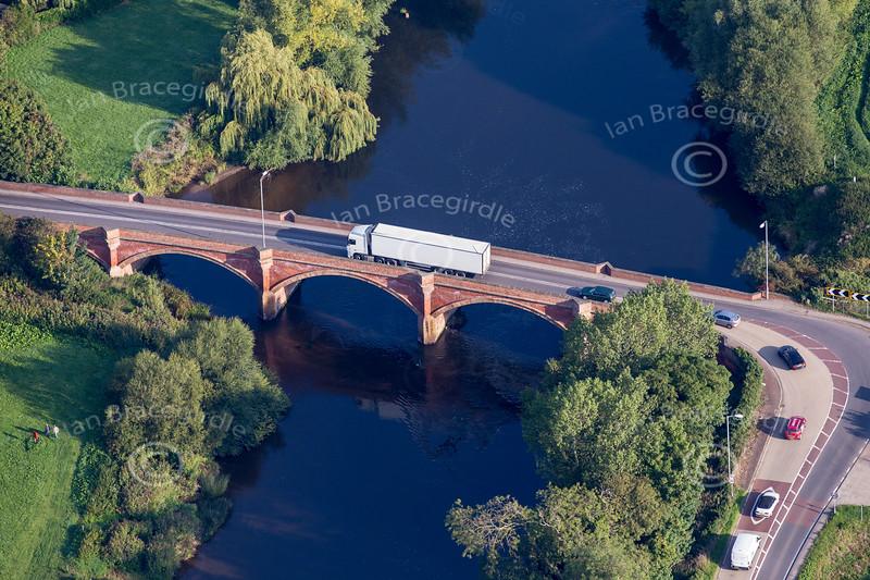 Aerial photo of Kelham Bridge.