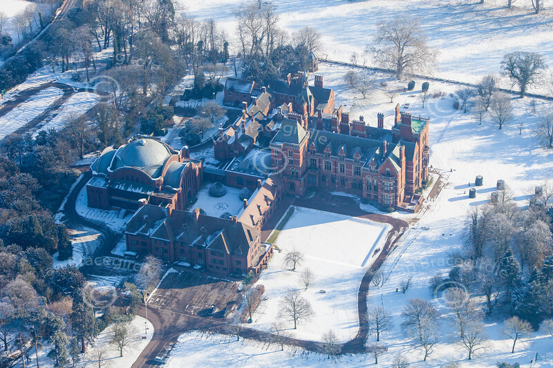 An aerial photo of Kelham Hall in Nottinghamshire.