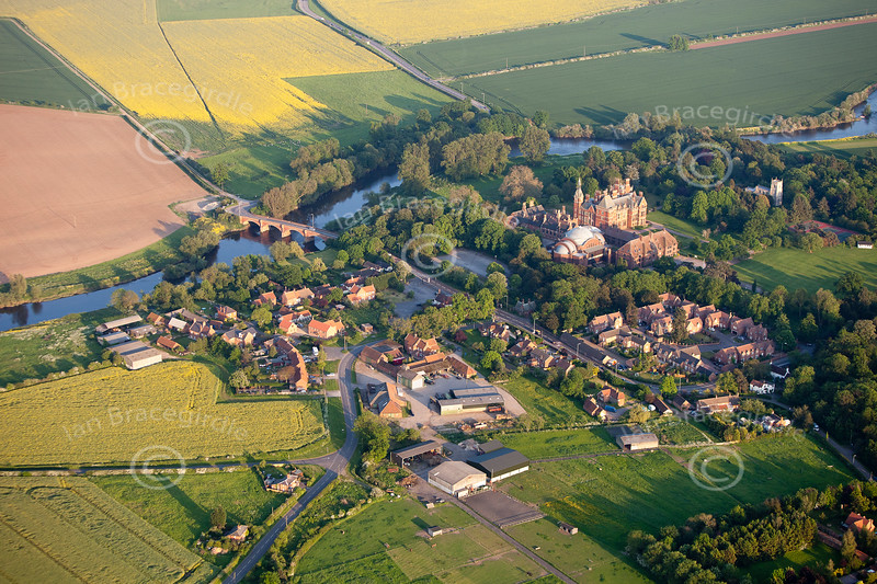 Aerial photo of Kelham.