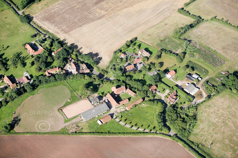 Aerial photo of Kersall.