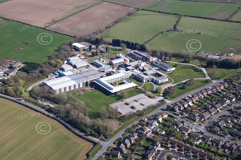 Aerial photo of the British Geological Survey in Keyworth.