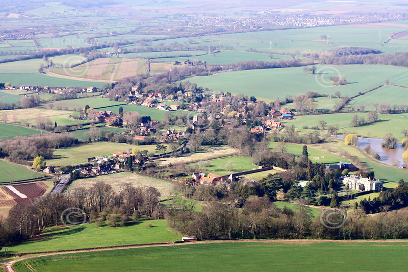 Aerial photo of Kirklington.