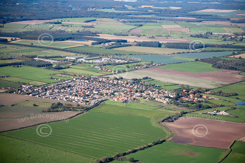 Aerial photo of Kirton.