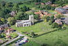 Aerial photo of Kneesall Church.