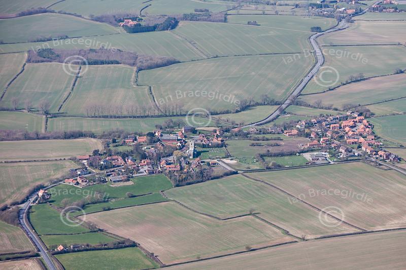 Aerial photo of Kneesall.