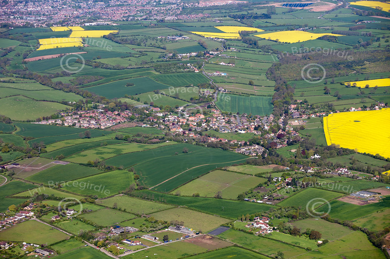 Aerial photo of Lambley.