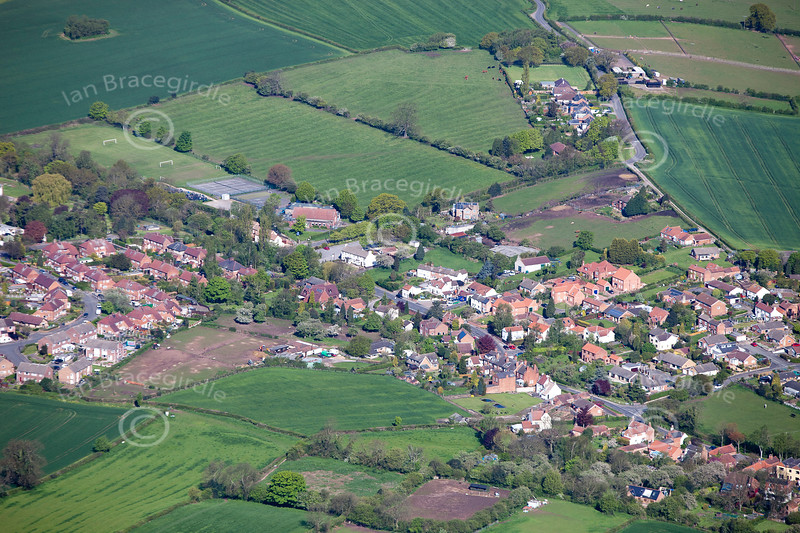 Aerial photo of Lambley.